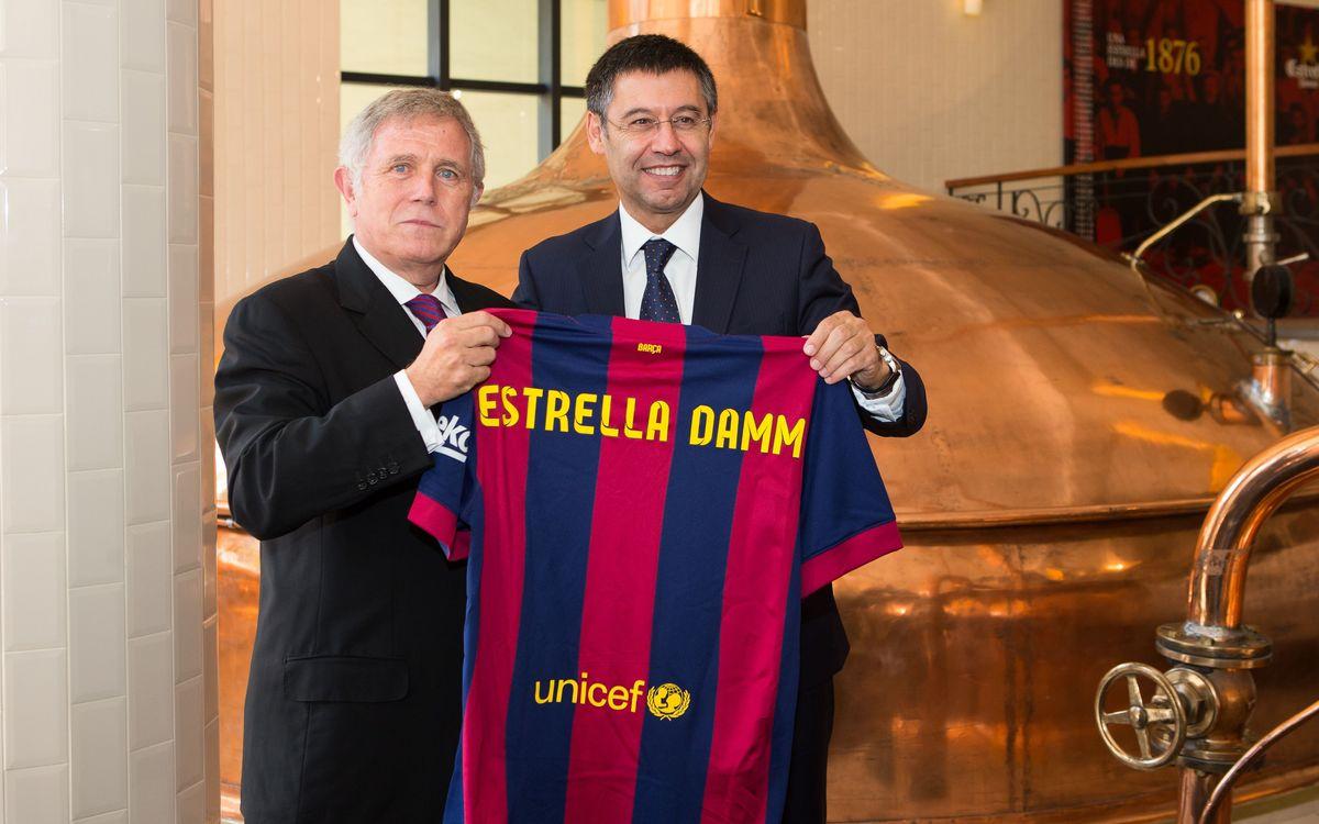 Estrella Damm extends official sponsor agreement with FC Barcelona until 2018