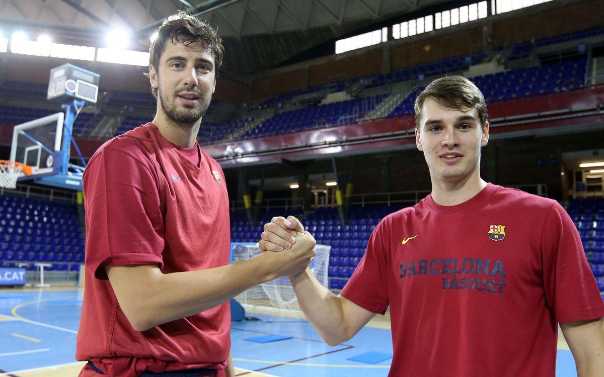 Tomic i Hezonja ja s'entrenen amb el Barça