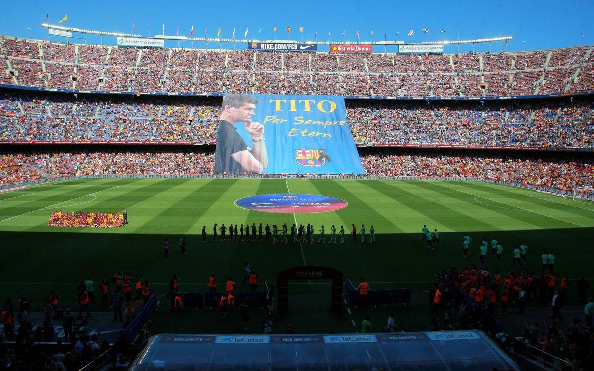 El último recuerdo del Camp Nou a Tito Vilanova