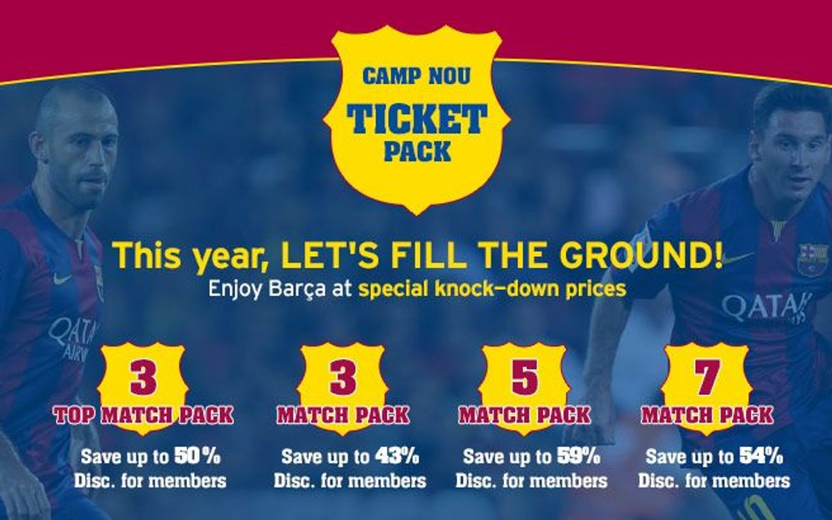 'Camp Nou ticket packs' go on sale