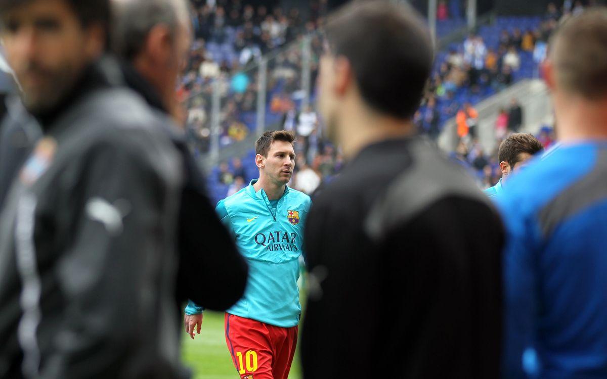 FC Barcelona's warm-up in Nuevo Los Cármenes