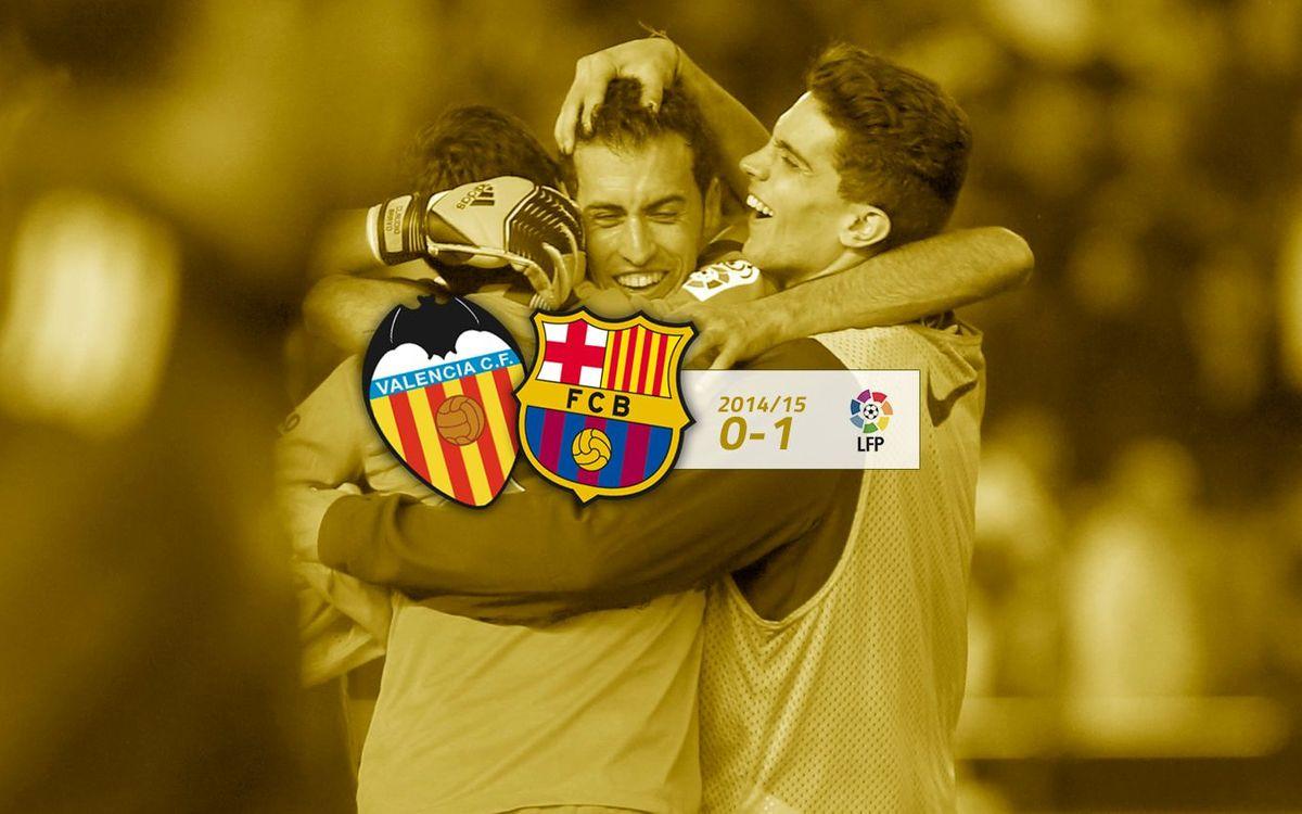 Valencia: 0 - FC Barcelona: 1