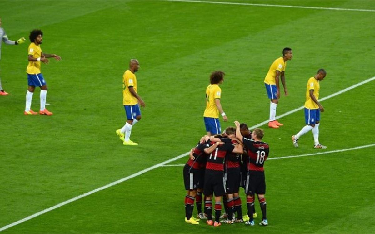 Brazil bow out of the World Cup after sustaining a heavy defeat (1-7)