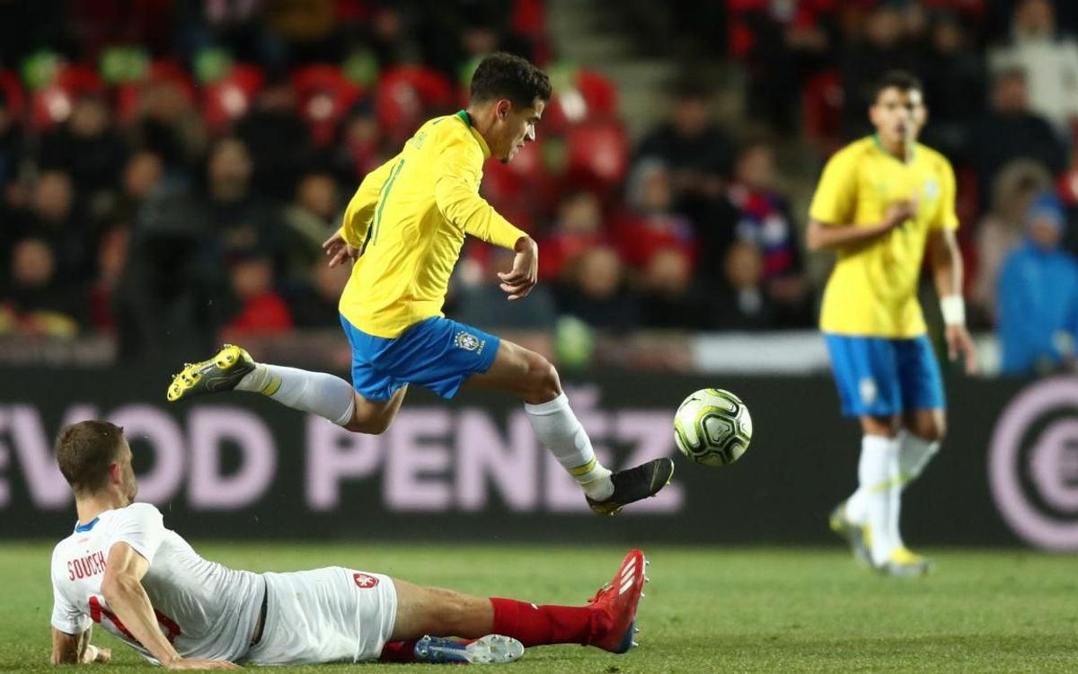 Coutinho, Arthur i S.Roberto brillen