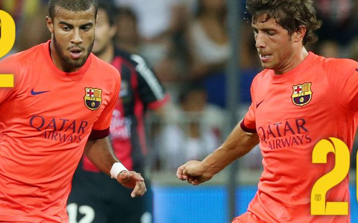 Rafinha to wear 12 and Sergi Roberto, 20