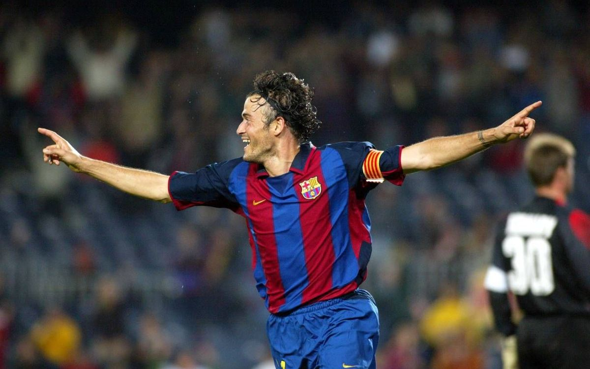Luis Enrique's hat-trick against Athletic Bilbao
