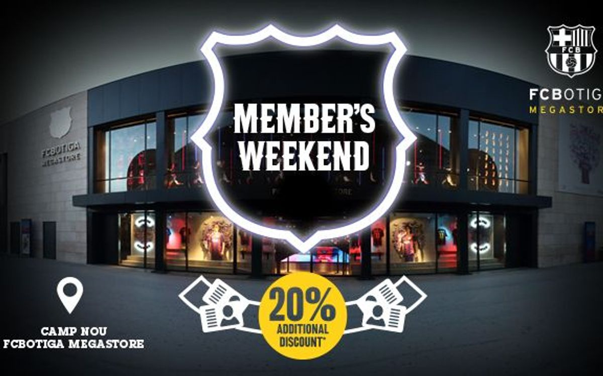 FCBotiga: 20% discount for Barça members on September 27 and 28