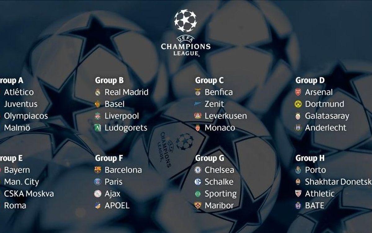 El calendario completo del FC Barcelona en la Liga de Campeones 2014/15