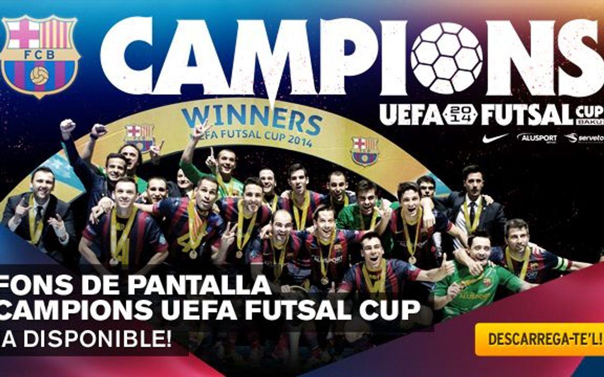 Descarrega't el fons de pantalla dels campions de la UEFA Futsal Cup
