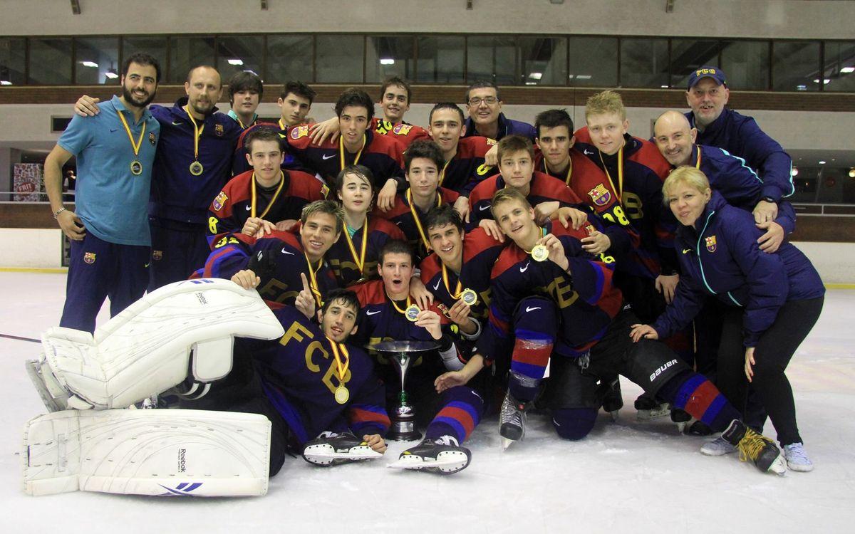 El sub-18 de l'hoquei gel, campió de la Copa del Príncep (9-4)