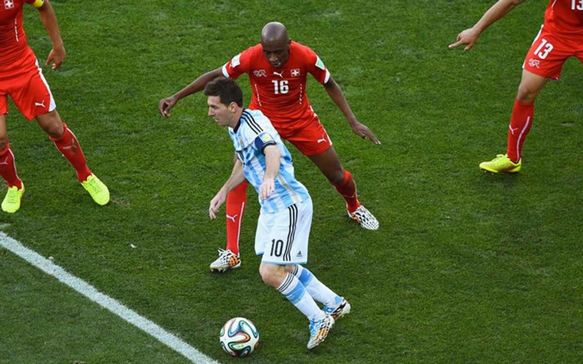 Messi and Di María take Argentina to the quarter-finals (1-0)