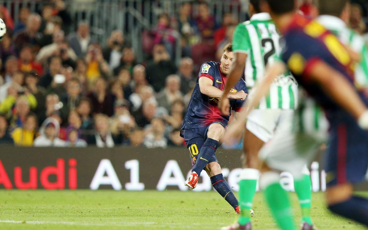 Los Barça-Betis, una garantía de goles