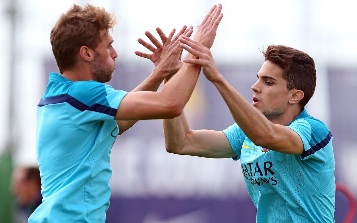 Training session focused on Villarreal