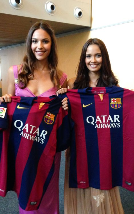 Miss World Megan Young is a Barça fan