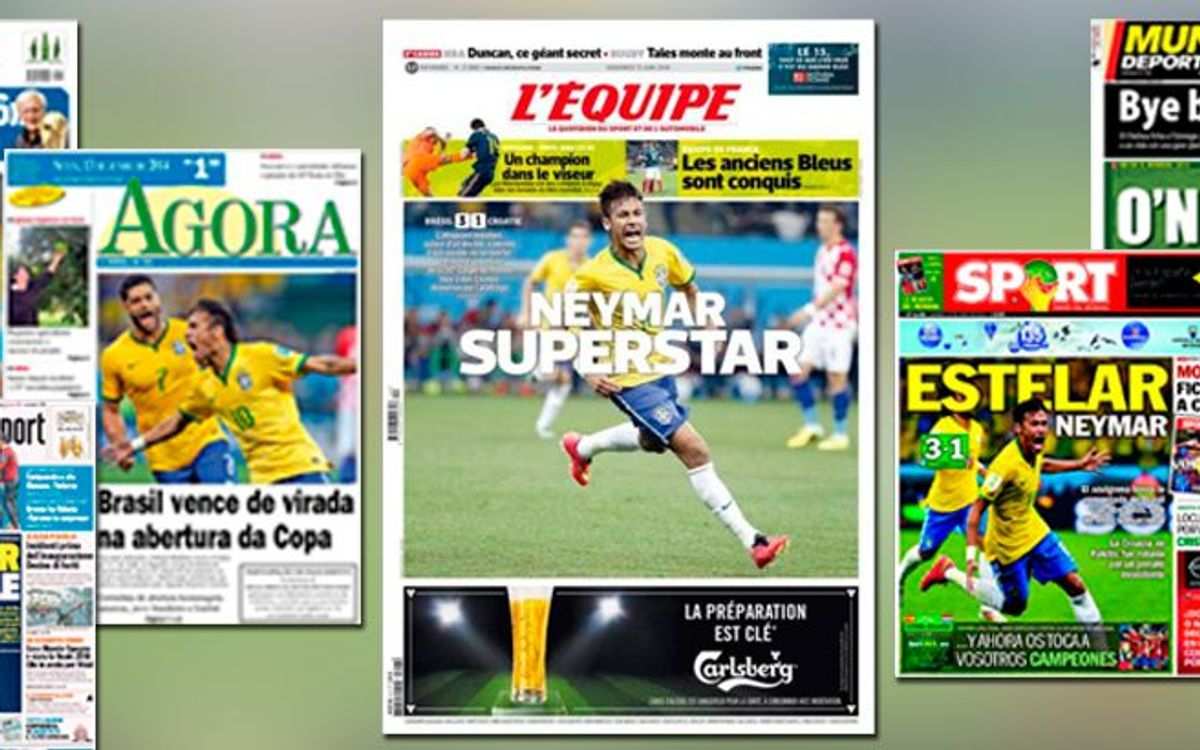 Neymar steals worldwide headlines