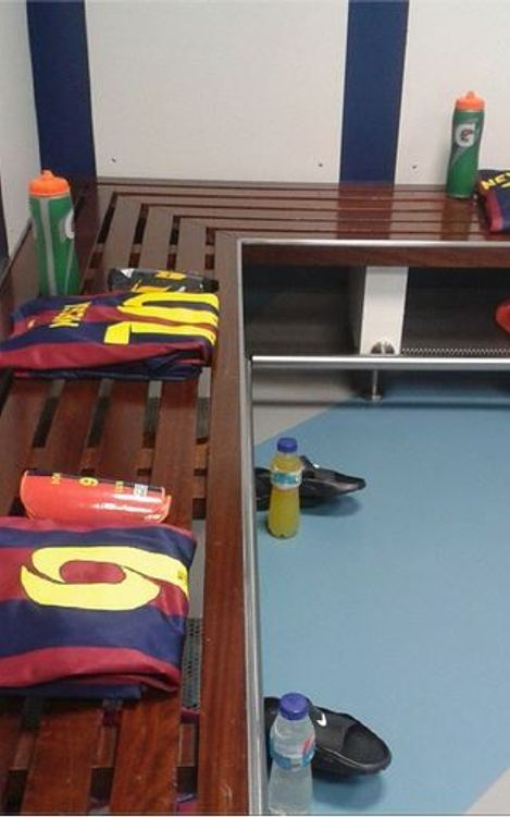 Changing room ready at the Bernabéu