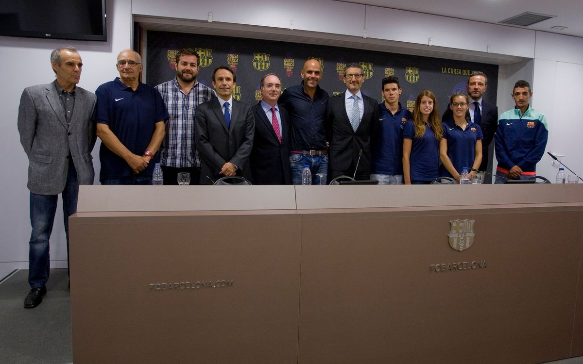 Presentada la I Edició de la Cursa Barça 2014, amb inici i arribada al Camp Nou
