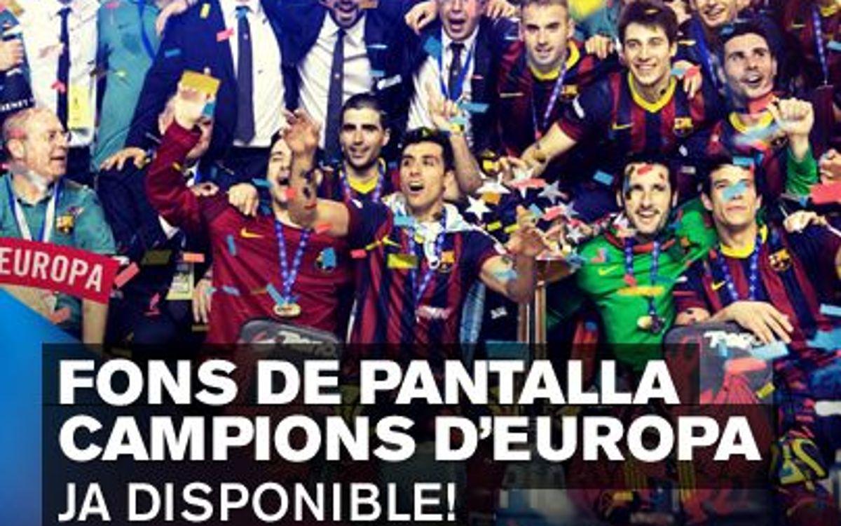 Descarrega't el fons de pantalla dels campions d'Europa 2013/14