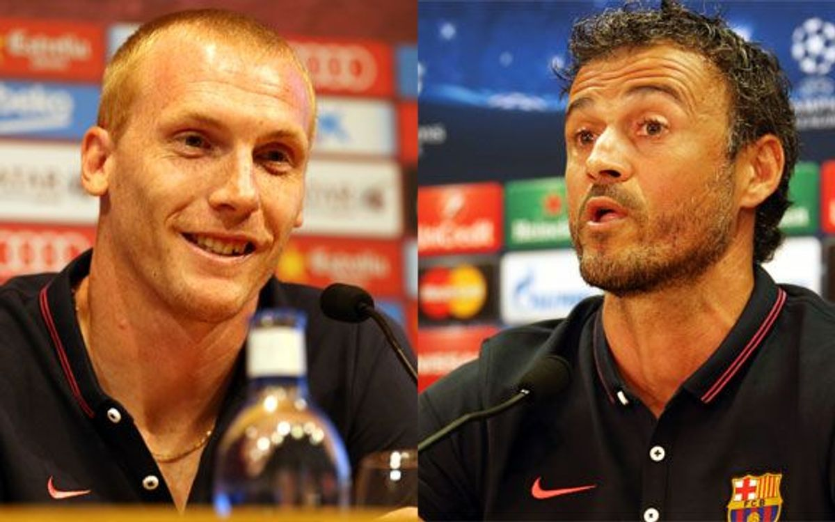 Mathieu and Luis Enrique press conference