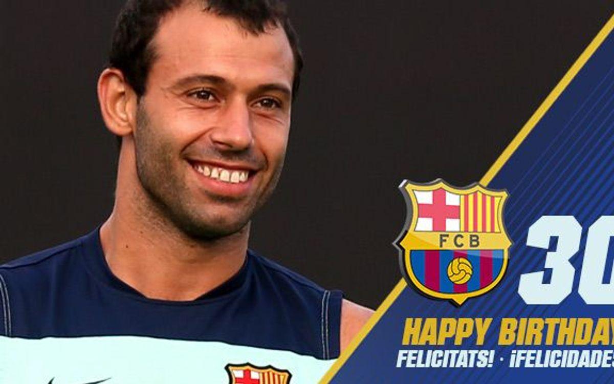 マスチェラーノ、30歳、おめでとう!