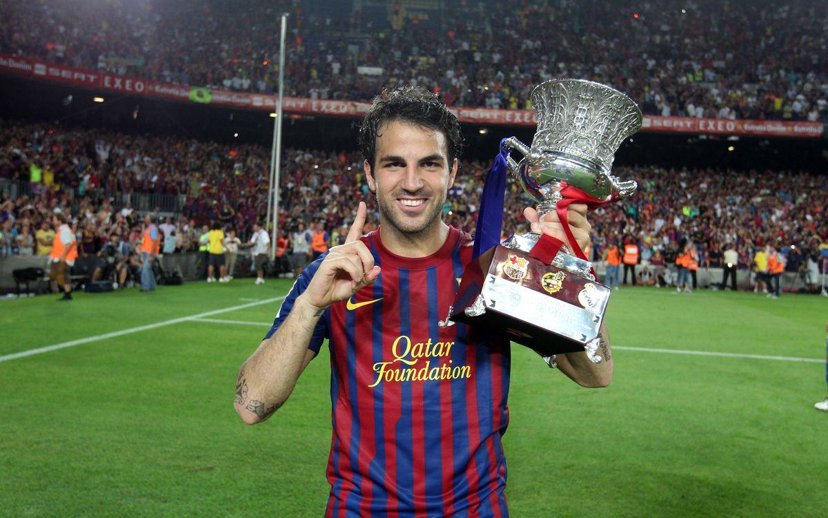 Cesc Fàbregas: three years in numbers