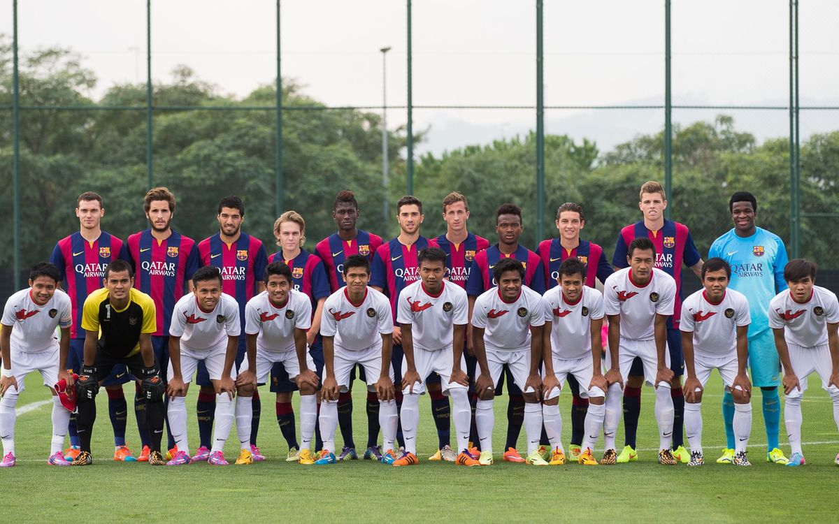 FC Barcelona B v Indonesia U19: Comfortable win (6-0)