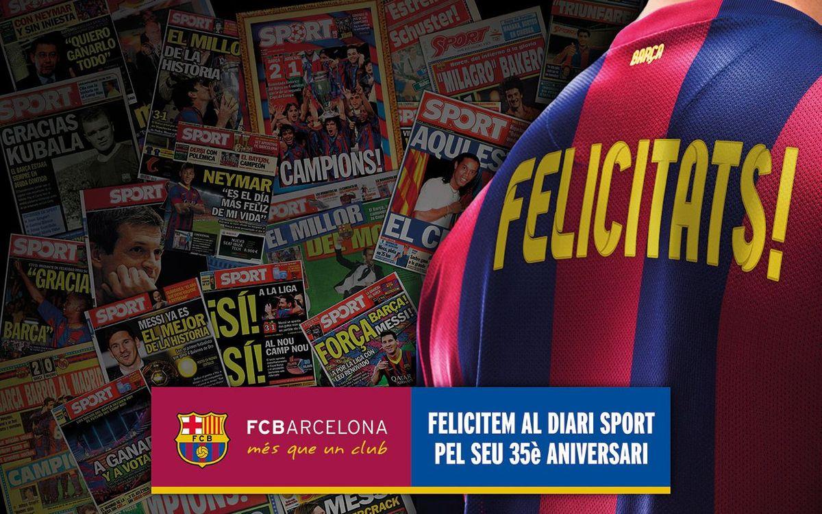 FC Barcelona congraulate 'Mundo Deportivo' and 'Sport'
