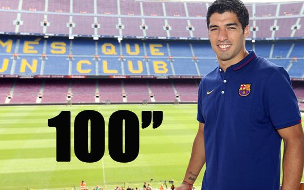 100 seconds of Luis Suarez's presentation