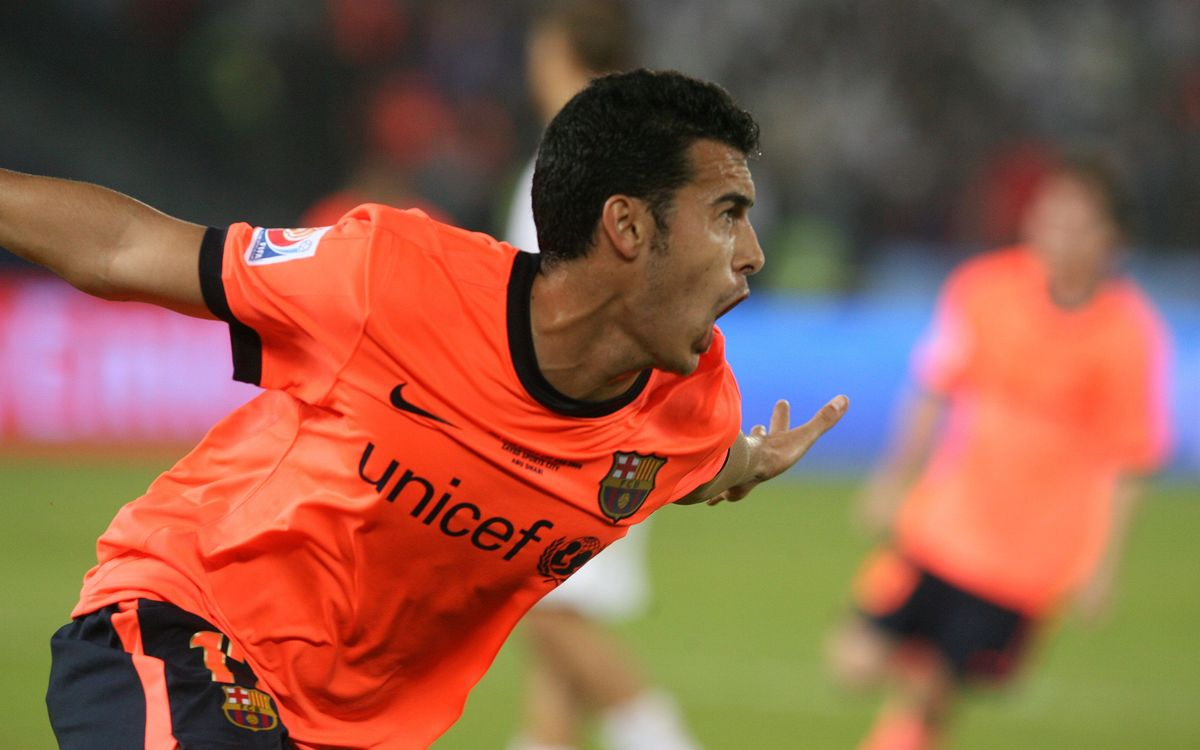 Pedro Rodríguez celebrating his equaliser in the World Club Championships in 2009 / PHOTO: MIGUEL RUIZ-FCB