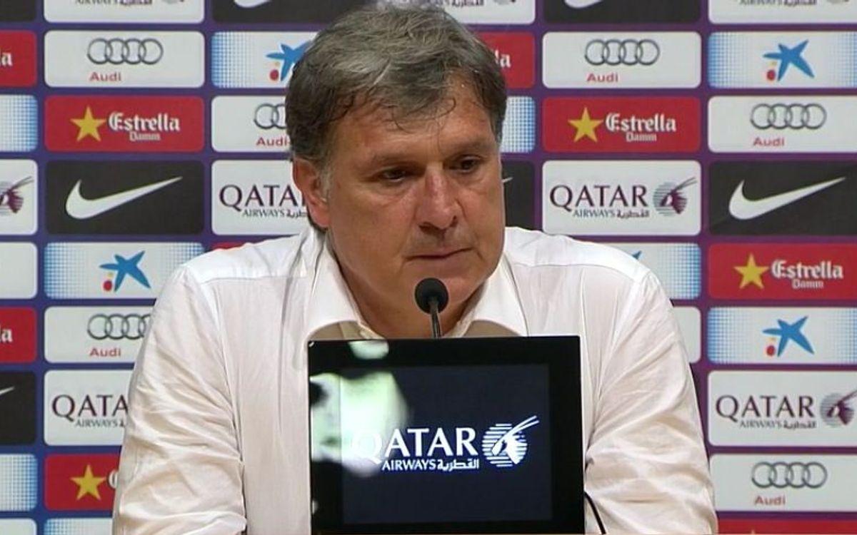 Tata Martino anuncia que deja de ser técnico del FC Barcelona