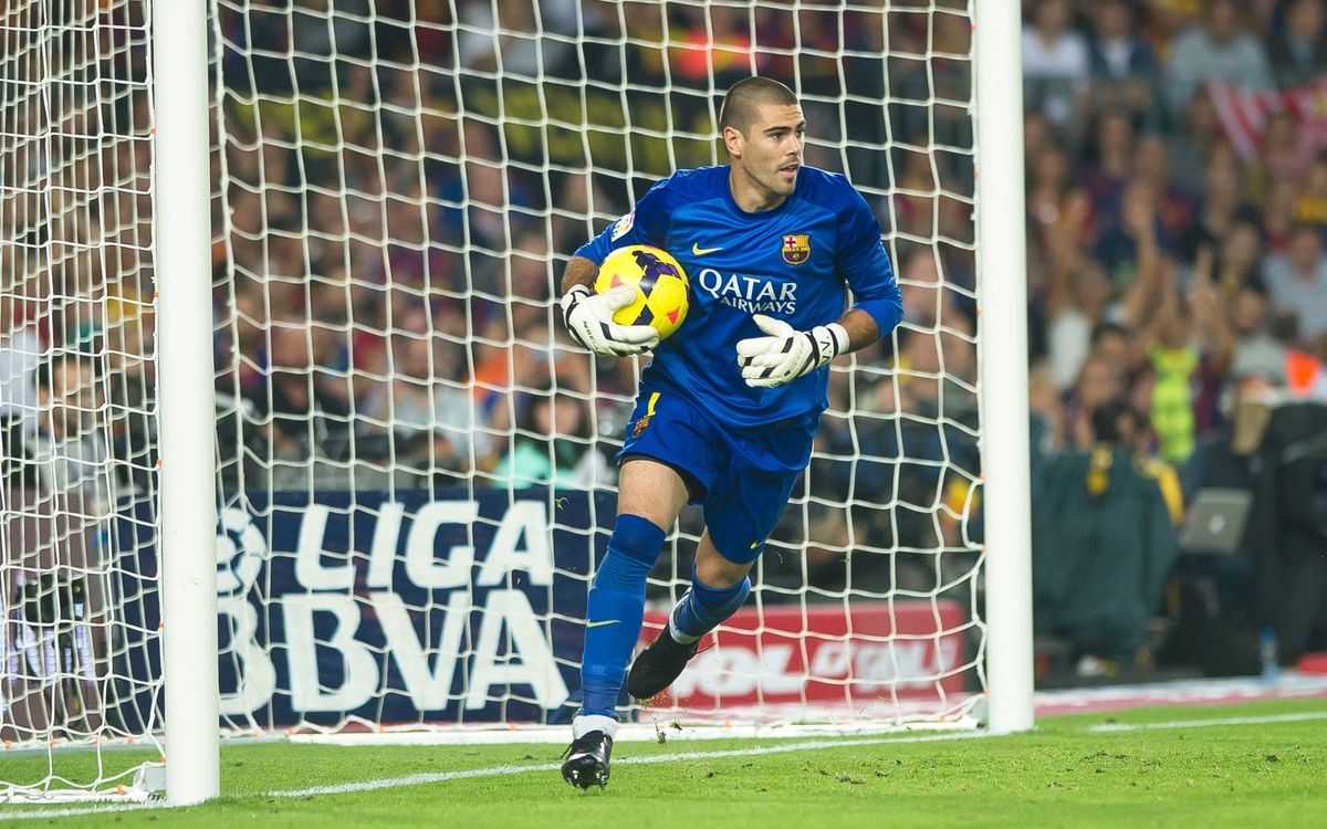 Víctor Valdés, fifth best goalkeeper according to the IFFHS