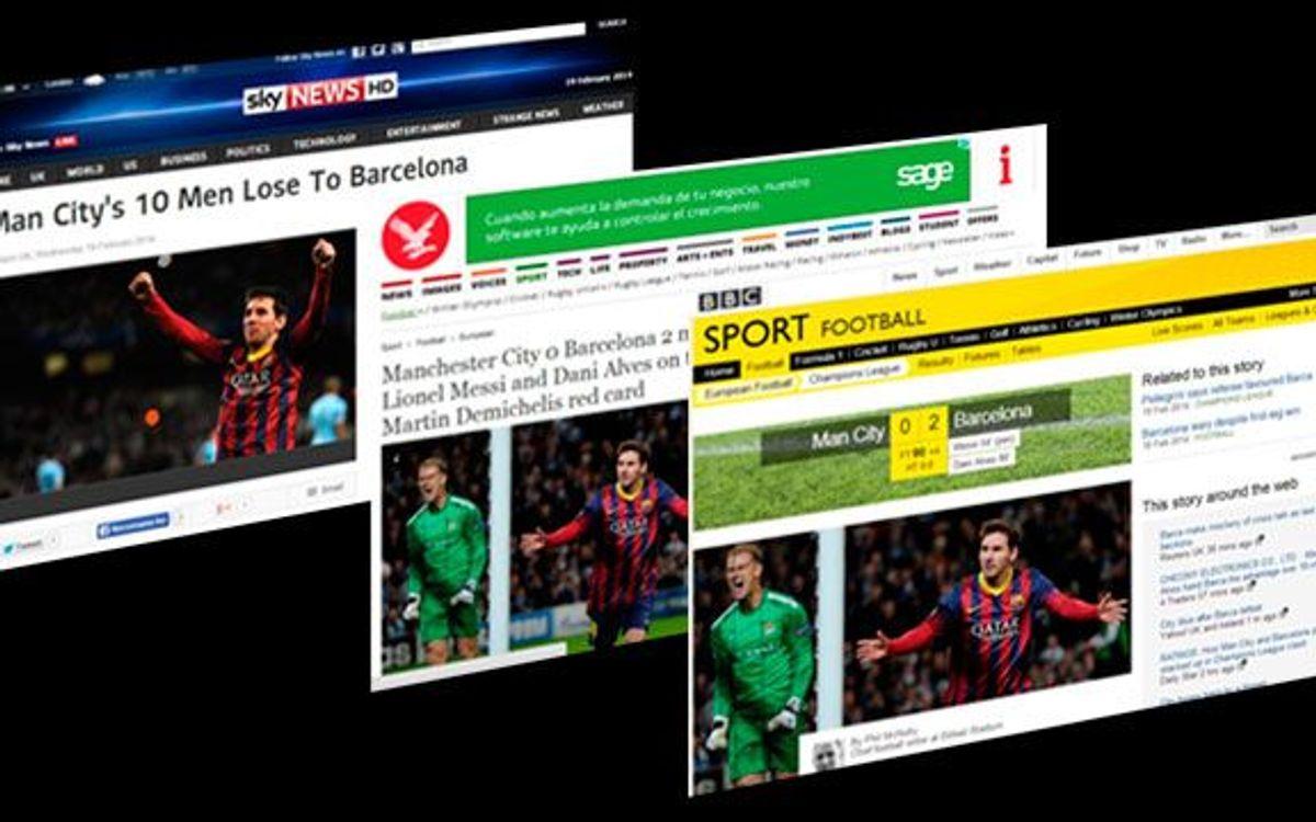 La premsa britànica analitza la victòria del FC Barcelona a Manchester