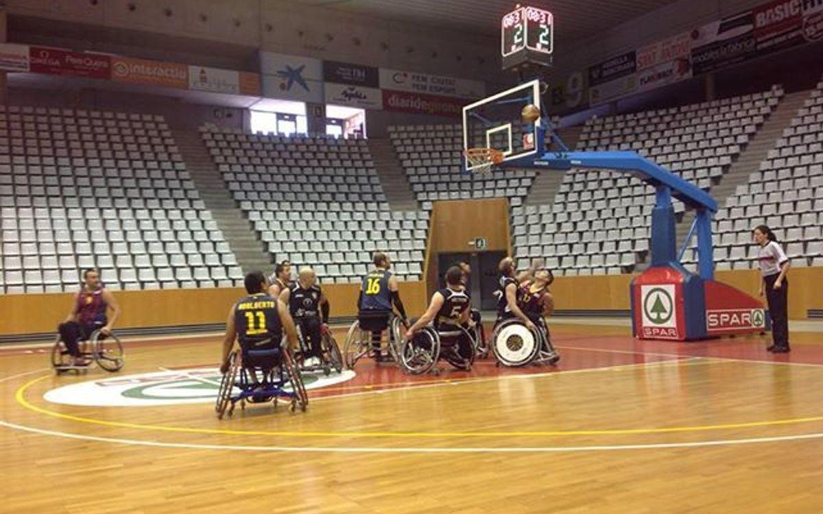 Triomf a Girona del bàsquet en cadira de rodes blaugrana (30-78)