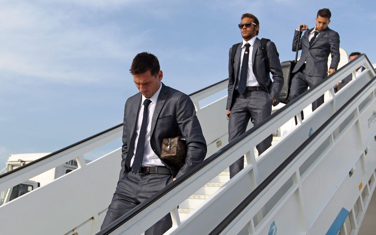 FC Barcelona fly to Madrid