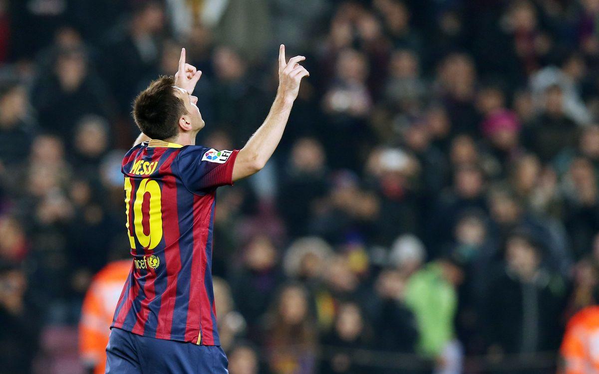 Leo Messi: 12 goals in 2014