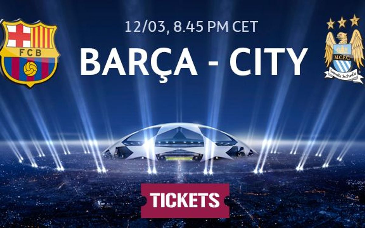 FC Barcelona v Manchester City tickets on sale from Monday