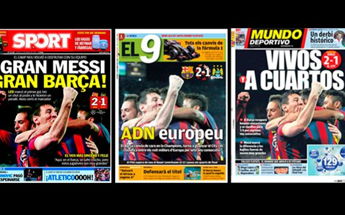 Catalan press reaction to City win