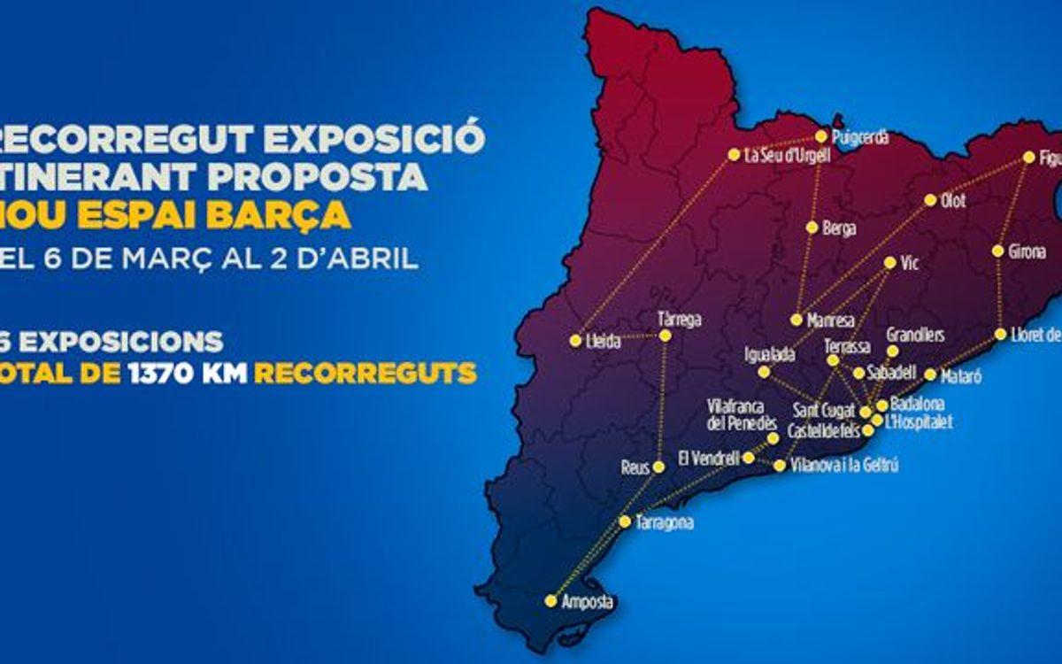 L'exposició itinerant ja ha fet mig trajecte del seu recorregut per Catalunya