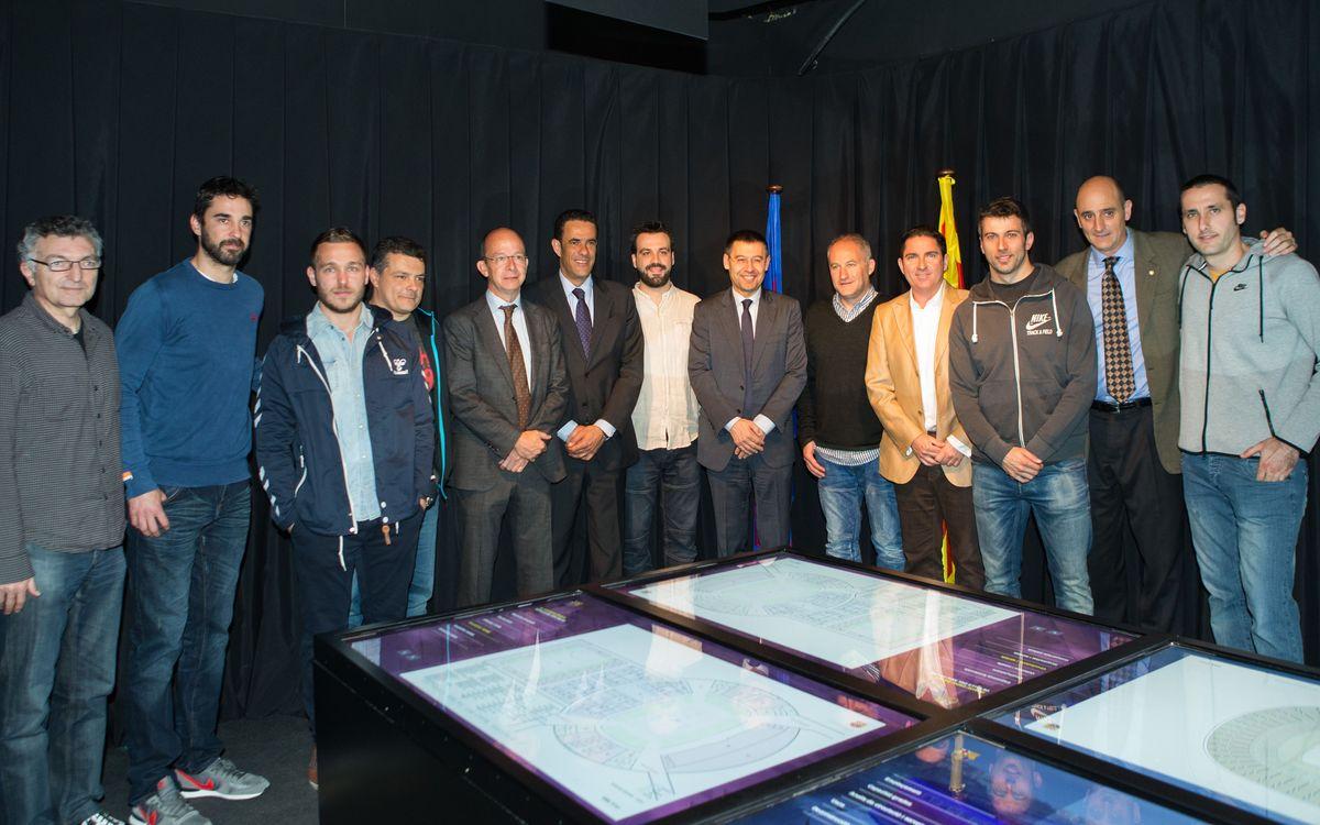 Els entrenadors i capitans de les seccions coneixen el Nou Espai Barça