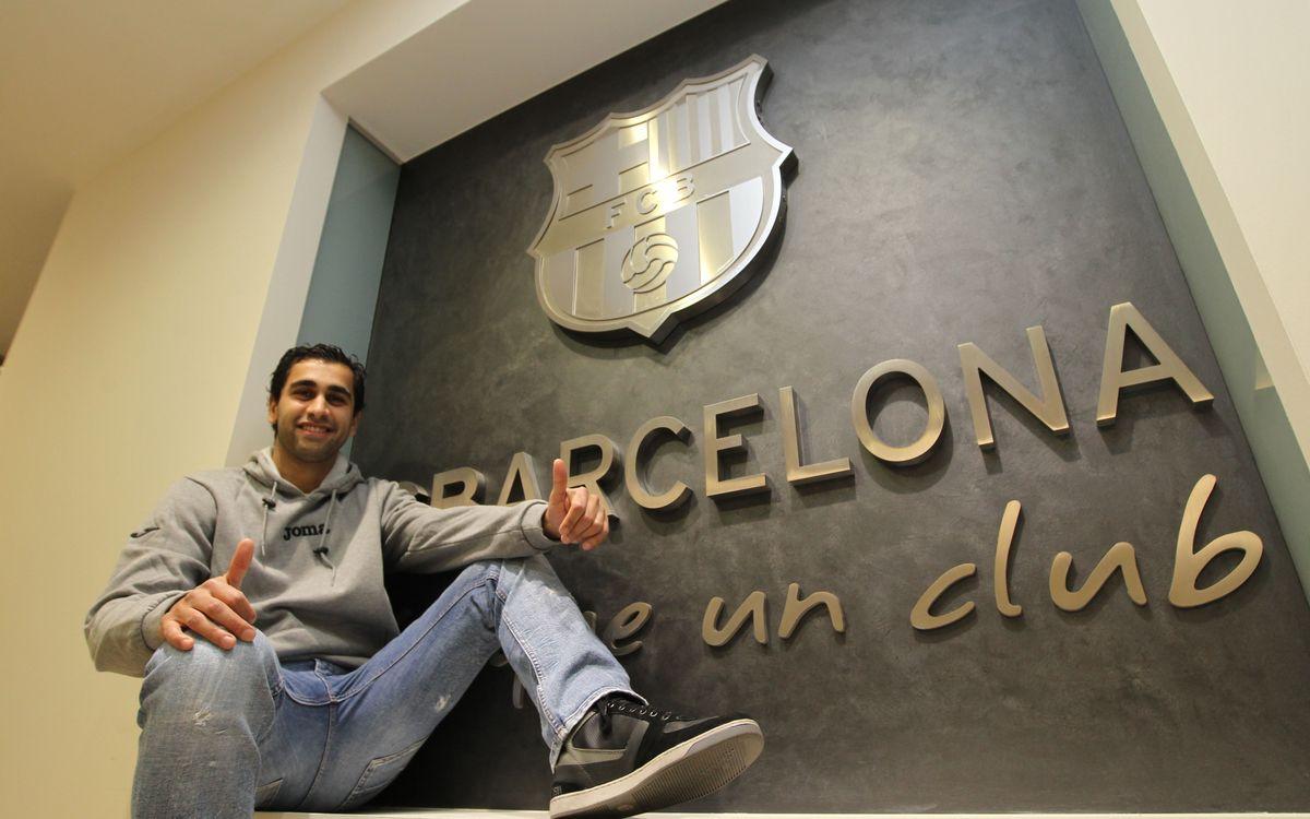 El brasileño Gabriel continuará una temporada más en el Barça Alusport