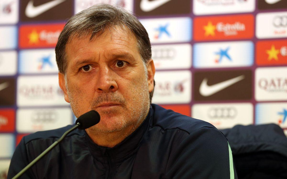 """Tata Martino: """"Nous jouerons comme si il y avait 0-0"""""""