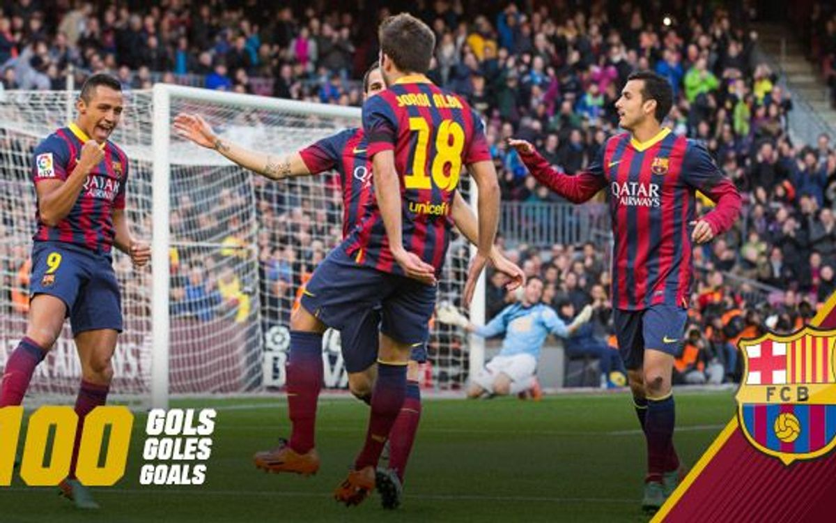 FC Barcelona have scored 100 official goals this season