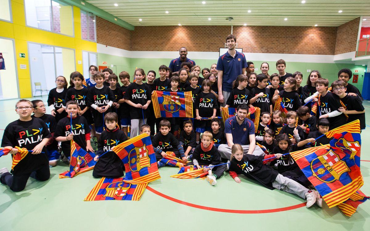 Tomic, Dorsey i Papanikolaou conviuen amb dues escoles de Barcelona