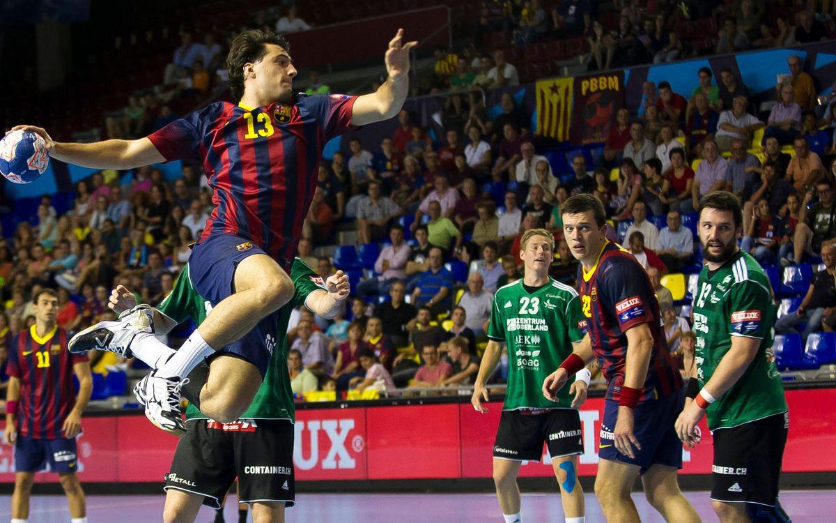El Barça d'handbol torna al camí de la Champions d'handbol
