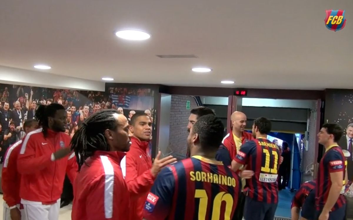Behind the scenes at FC Barcelona v PSG Handball