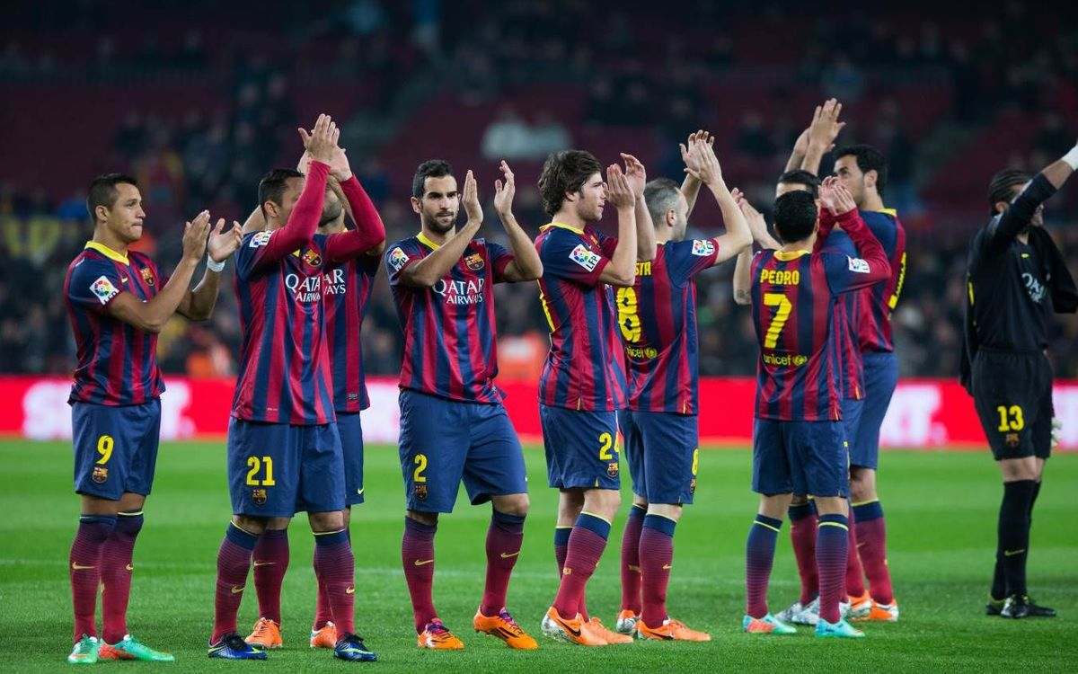 FC Barcelona warm up before Getafe game