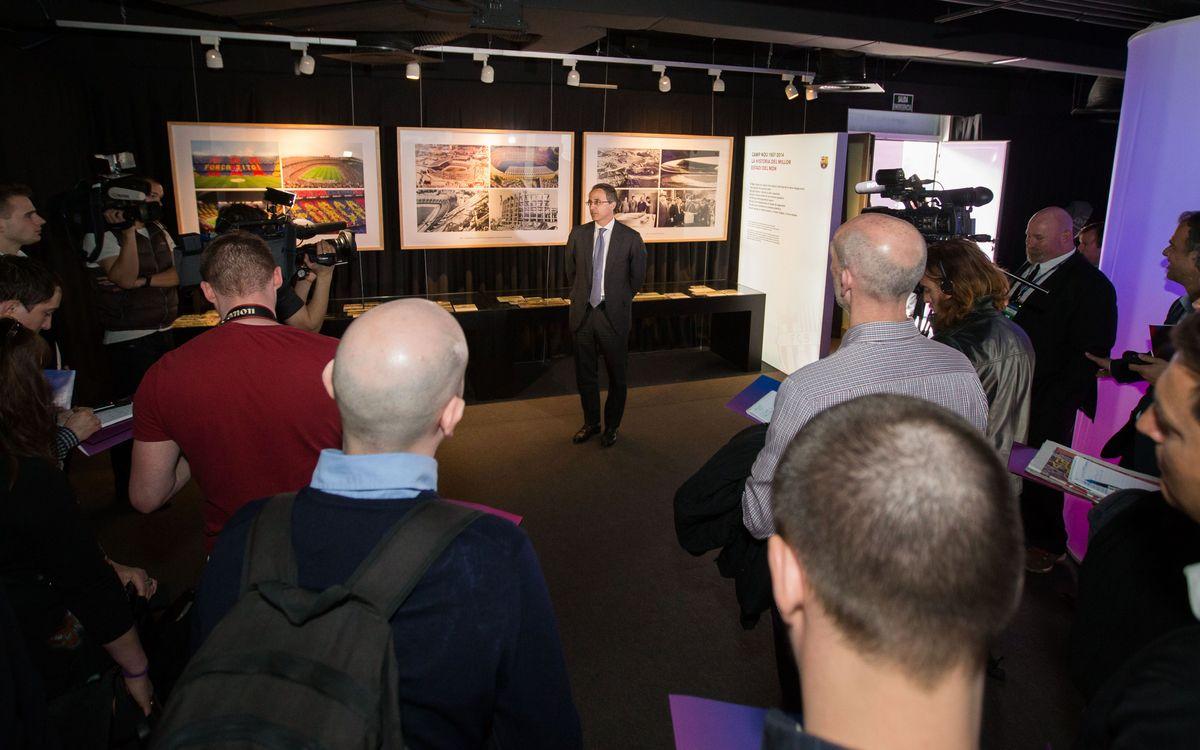 La premsa internacional visita l'exposició permanent