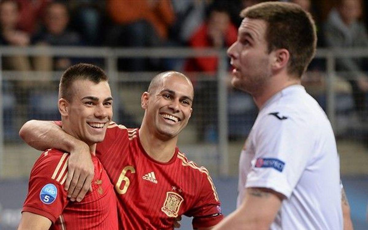 Els jugadors blaugrana jugaran els quarts del Campionat d'Europa