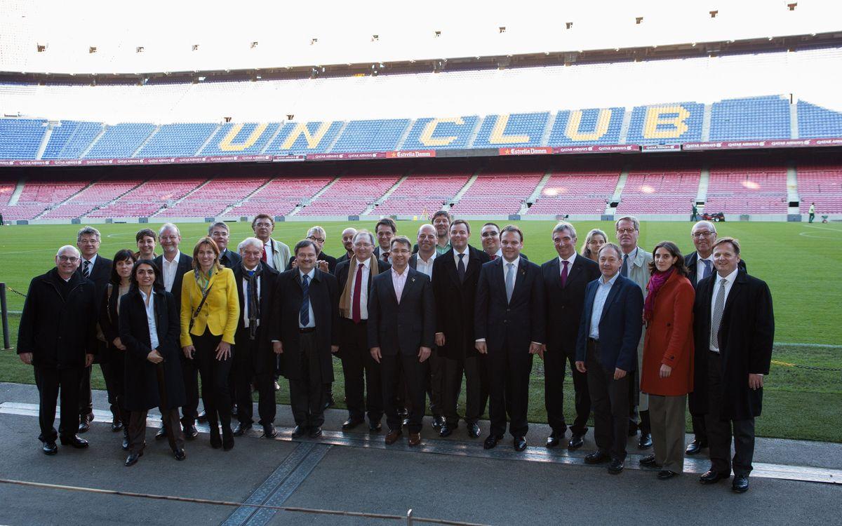 Una delegació del Parlament de Baden-Württemberg visita el Museu del Barça