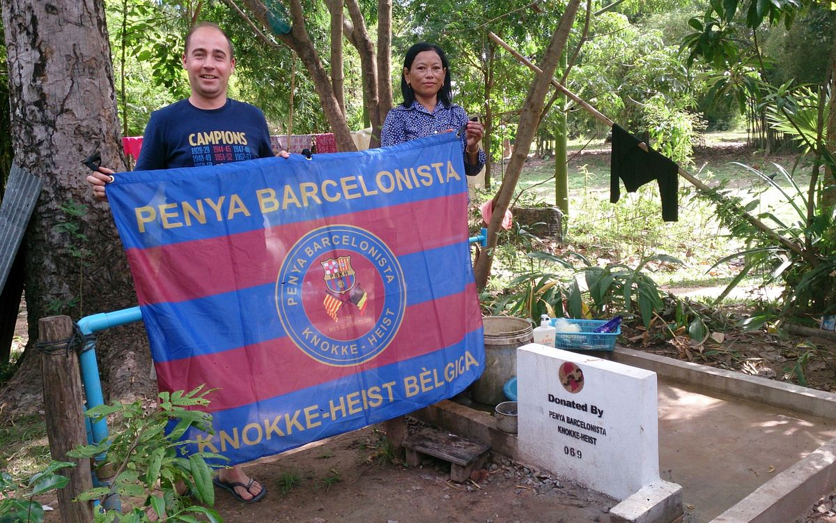 The Belgian PB Knokke-Heist has collected money for a fresh water well to be installed in Cambodia